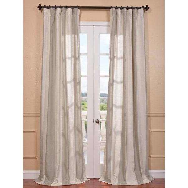 Del Mar Stone Linen Blend Curtain Panel