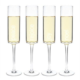 Cathy's Concepts Holiday Champagne Flutes