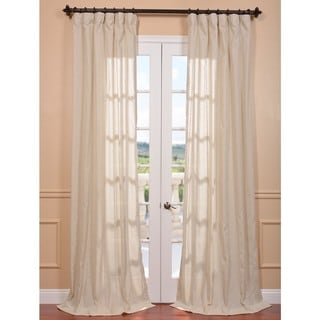 Trinidad Natural Linen Blend Stripe Curtain Panel