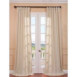 Grenada Natural Stripe Linen Blend Curtain Panel