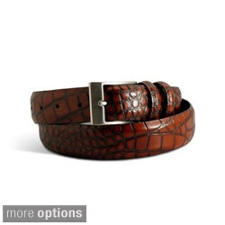 Marco LTD Men's Croc Leather Dress Belt