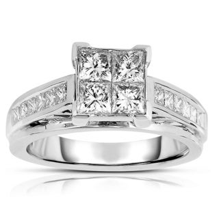 14k White Gold 1 1/2ct TDW Engagement Ring (H-I, I1-I2)