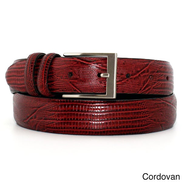 Marco LTD Men's Lizard Grain Leather Dress Belt
