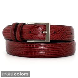 Marco LTD Men's Lizard Grain Leather Dress Belt