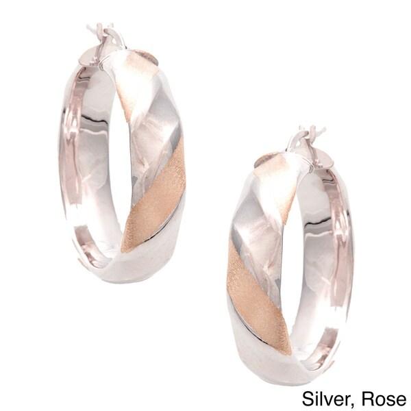14k Goldplated Sterling Silver Italian 3/4 Fashion Earrings