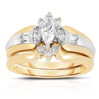 14k Gold 4/5ct TDW Marquise Diamond Bridal Ring Set (I-J, I1-I2)