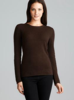Evelyn Cashmere Long Sleeve Crew Neck Cashmere Sweater