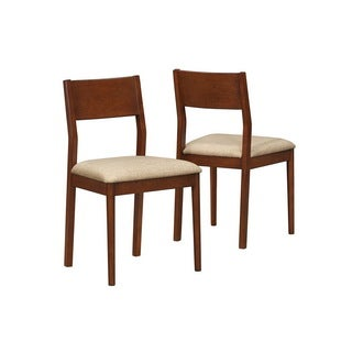 Modern Oak Side Chairs (Set of 2)