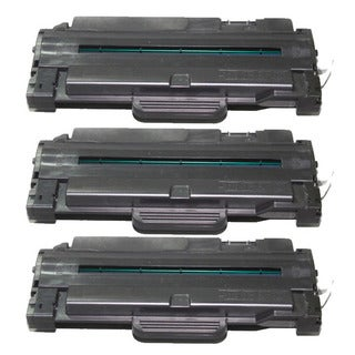 Samsung-compatible Black High Yield Laser Toner Cartridge (Pack of 3) MLT-D105L