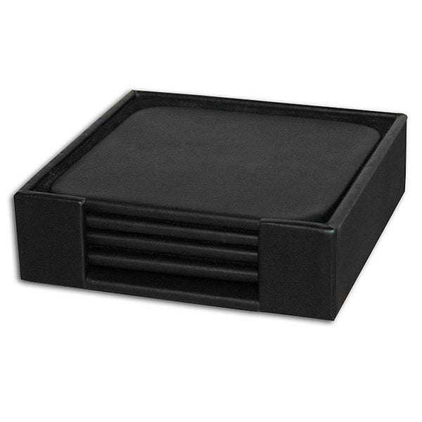 Leatherette Square Coasters (Set of 4) 11667162