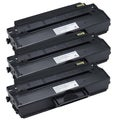 Dell-compatible 1260 Black Toner (Pack of 3)