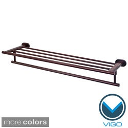 Vigo Ovando 24-inch Round Design Hotel Style Rack and Towel Bar