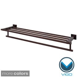 Vigo Allure 24-inch Square Design Hotel Style Rack and Towel Bar