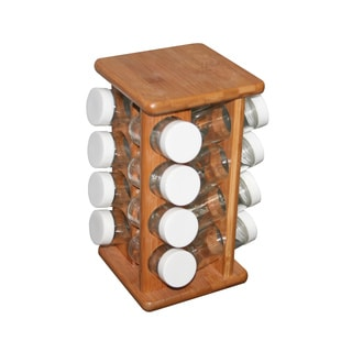 Bamboo 16-Bottle Spice Rack