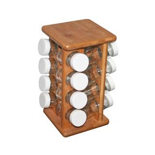 Bamboo 16-Bottle Spice Rack