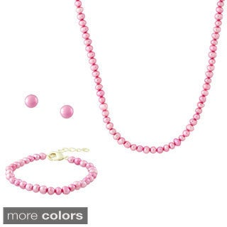 Molly and Emma Pearl Jewelry Set (4.5 mm)