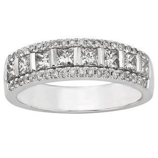 14k White Gold 1ct TDW Certified Diamond Wedding Band (H-I, I1-I2)
