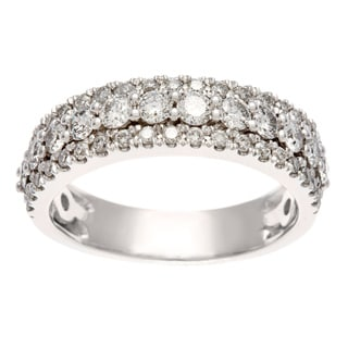 14K White Gold 1ct TDW Certified Diamond Anniversary Band (H-I, I1-I2)