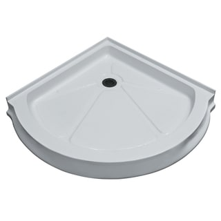 Vigo 40-Inch x 40-Inch White Round Shower Tray