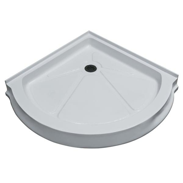Vigo 40-Inch x 40-Inch White Round Shower Tray