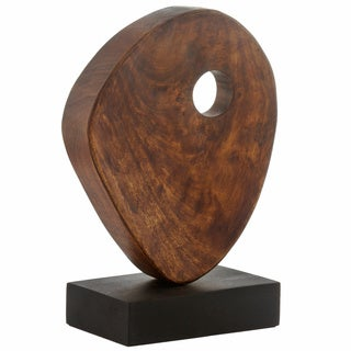 Brown Wood Sculpture with Hole