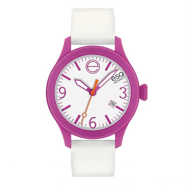 ESQ Movado Unisex 'ESQ ONE' Pink/ White Watch