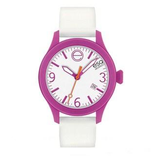 ESQ Movado Unisex 'ESQ ONE' Pink/ White Watch