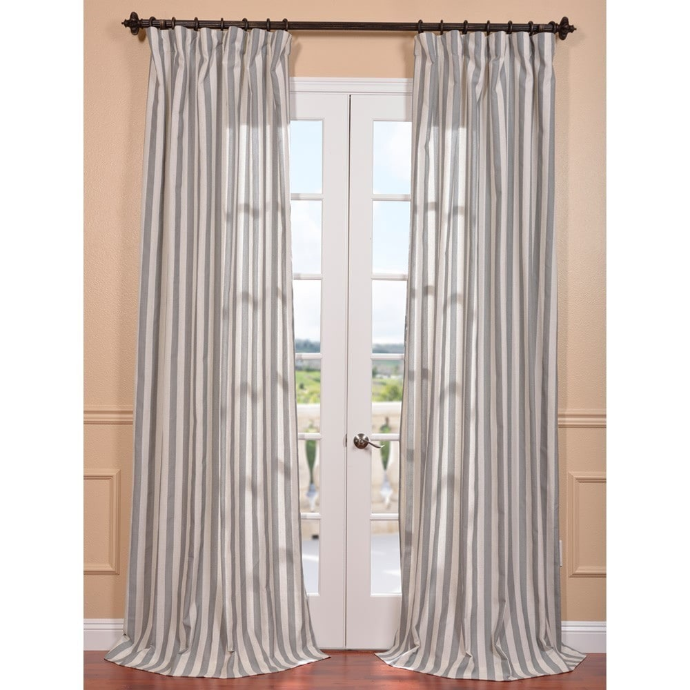 EFF Key West Grey Stripe Linen Blend Curtain Panel at Sears.com