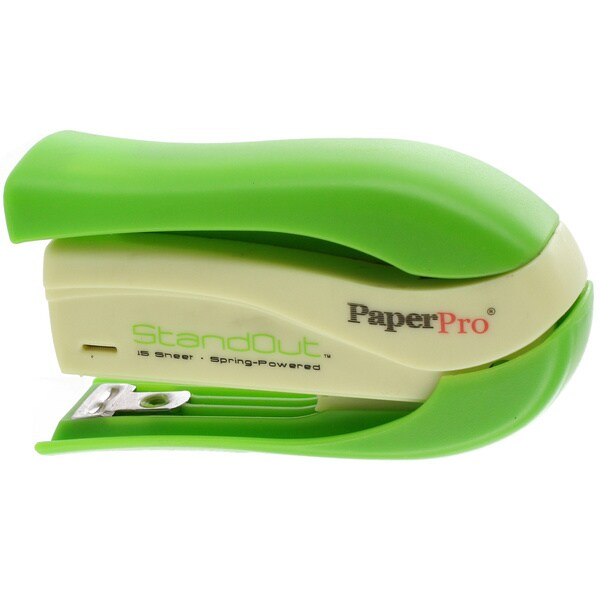 PaperPro StandOut Easy-Squeeze Green Stapler