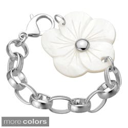 Stainless Steel Shell Flower 8-inch Bracelet