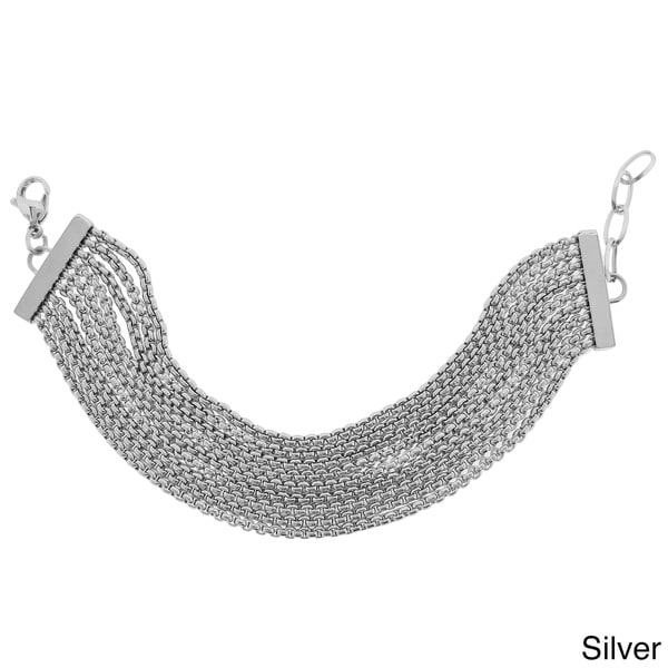Stainless Steel 9-row Box Chain Bracelet