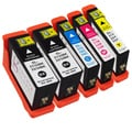Sophia Global Dell-compatible 31 Black, Cyan, Magenta, Yellow Ink Cartridges (Pack of 5)