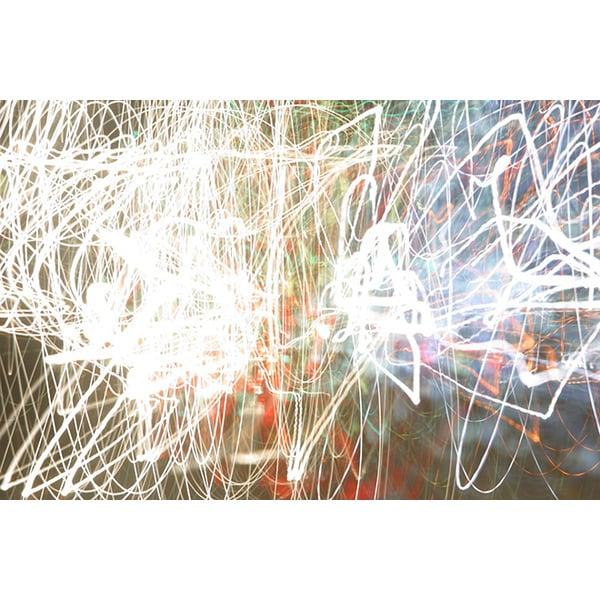 'Line Luminosity Multi-Layered Effect' Canvas Art Print