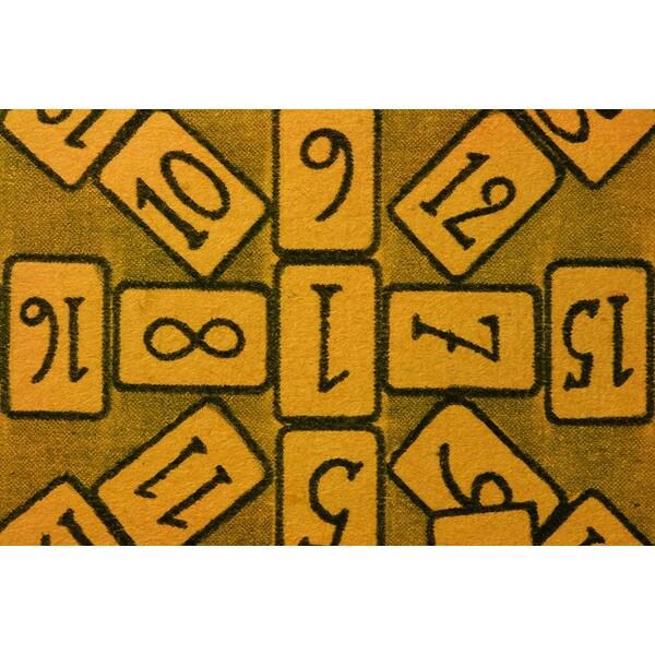 'Brown Cards' Canvas Art Print
