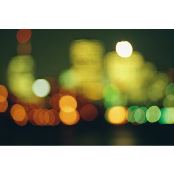 'Blurred City Lights' Canvas Art Print