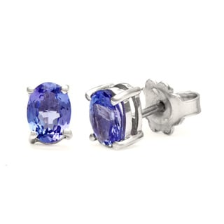 Sterling Silver 1 2/5ct TGW Tanzanite Earrings