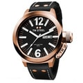 TW Steel Men's 'Canteen' Black Dial Leather Strap Watch