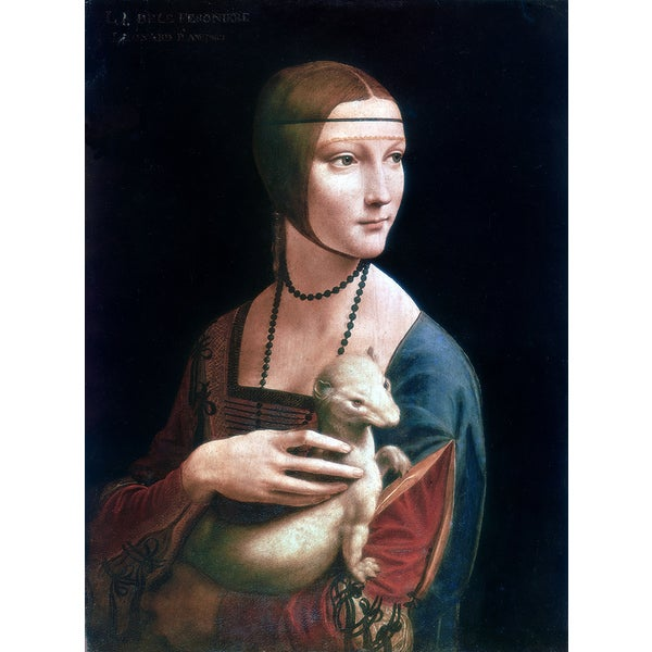 'Portrait of Cecilia Gallerani' Canvas Print