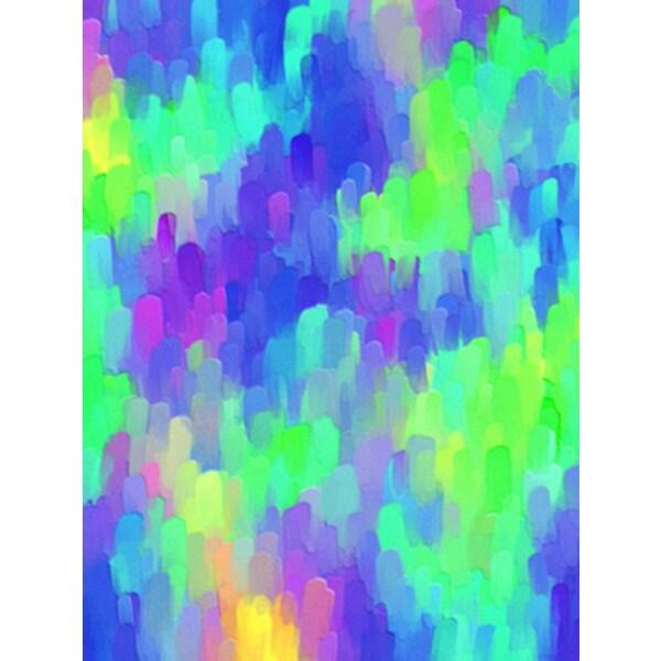'Multi Colored Brush Stroke' Canvas Art Print