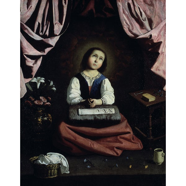 Francisco de Zurbarn 'The Young Virgin' Canvas Print