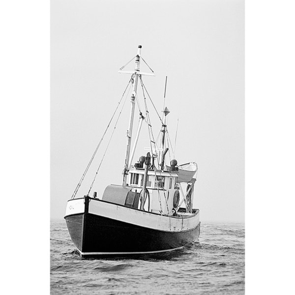 'Fishing Trawler at Sea' Canvas Art Print