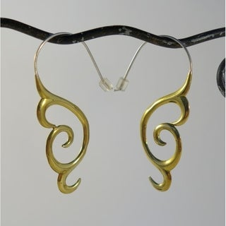 Maori Brass Fusion Earrings (Indonesia)