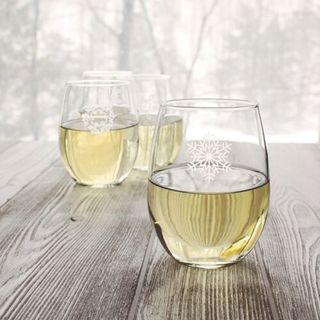 Snowflake Stemless Wine Glasses