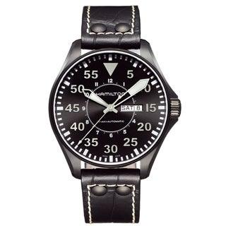 Hamilton Men's 'Khaki King Pilot' Black Dial Watch