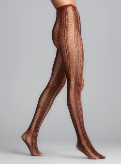 Memoi Biking Red Epic Lace Net Tights
