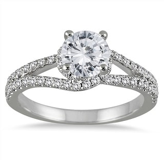 14k White Gold 1 1/10ct TDW Diamond Engagement Ring (I-J, I2-I3)