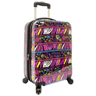 Traveler's Choice Bohemian 21-inch Hardside Carry-on Spinner Luggage