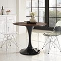 Lippa 36-inch Black with Walnut Top Table