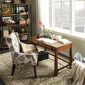INSPIRE Q Granville Warm Walnut 1-drawer Writing Desk
