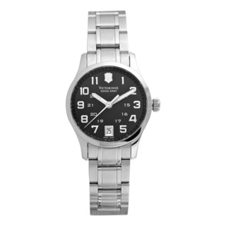 Swiss Army Women's 241325 'Alliance' Black Dial Stainless Steel Watch